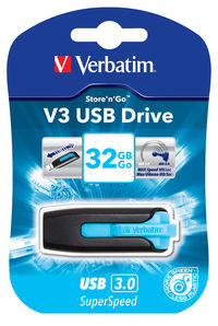 Jednotka USB V3 32GB – karibsky modrá
