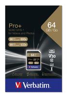 Verbatim Pro+ U3 SDHC/SDXC-Karte