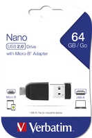 NANO USB Drive with Micro USB (OTG) Adapter