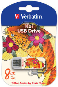 8GB jednotka USB Mini Tattoo Edition – Koi