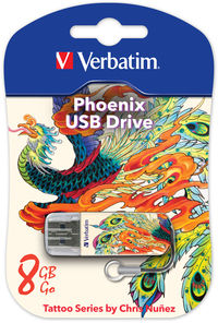 Cl� USB Mini 8�Go, �dition Tattoo - Phoenix