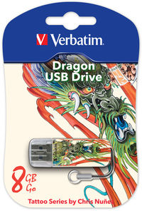 Memoria USB Mini de 8 GB Tattoo Edition: Dragón