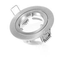 Anneau pour spot à encastrer - aluminium brossé IP44