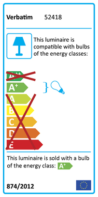 52418 Energy Rating Label