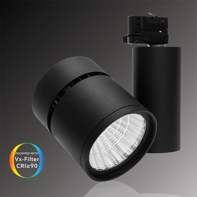 Proyector LED de carril 15W, 3000K, 1200 lm, negro