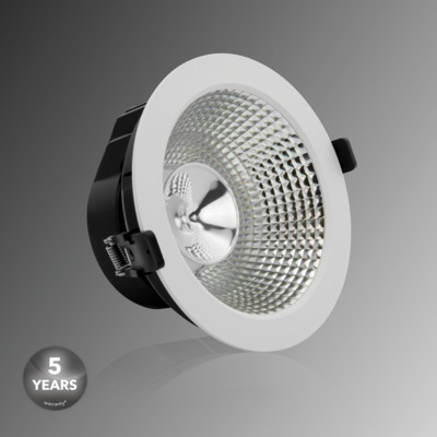 Verbatim LED Recessed Downlight INDIRECT 170mm 15W 3000K 1100lm 40° blanco