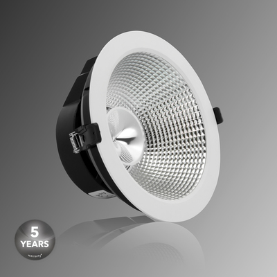Verbatim LED Recessed Downlight INDIRECT 220mm 20W/30W 3000K 1650lm/2450lm 25� White