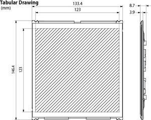 52800 OLED tabular drawing