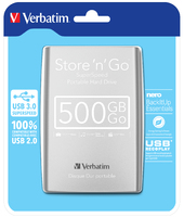 Store 'n' Go USB 3.0 bærbar harddisk 500GB sølv