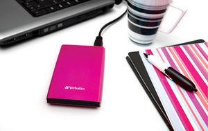 HardDrives Portable USB3Colours Pink