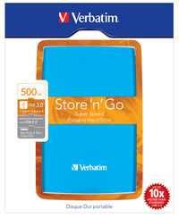 Store 'n' Go USB 3.0 Portable HDD 500GB Caribbean Blue