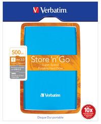Store 'n' Go USB 3.0 bærbar harddisk 500GB caraibisk blå