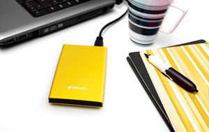 HardDrives Portable USB 3.0 Colours Yellow