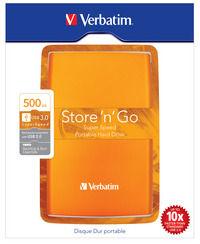 Store 'n' Go USB 3.0 bærbar harddisk 500GB vulkan-orange