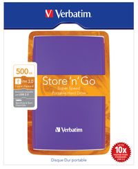 Store 'n' Go USB 3.0 Portable Hard Drive 500GB Violet