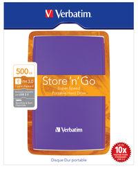 Store 'n' Go USB 3.0 transportabel harddisk 500 GB violet