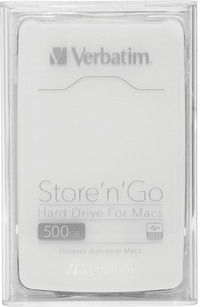 Store 'n' Go Hard Drive for Macs: USB 3.0 500GB White