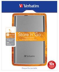 Store 'n' Go USB 3.0 bærbar harddisk 1TB Grafitgrå
