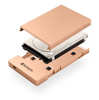 Store 'n' Go 2.5'' HDD/SSD Enclosure Kit USB-C/3.1 - Rose Gold