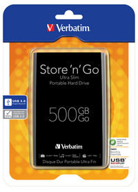 Przenośny dysk twardy Store 'n' Go Ultra Slim 500 GB USB 3.0 czarny
