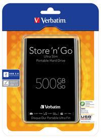 Externe Festplatte Store 'n' Go Ultra Slim 500GB USB 3.0 - Schwarz