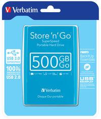 Javanski plavi prijenosni tvrdi disk Store 'n' Go USB 3.0 od 500 GB