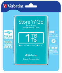 Store 'n' Go USB 3.0 Portable Hard Drive 1TB Silvertree Green