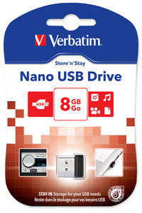 8GB jednotka USB Store 'n' Stay NANO
