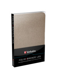 Funda Folio con luz LED para Kindle: Bronce
