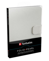�tui Folio pour Kindle Fire - Blanc perle