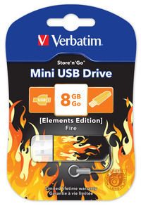 Jednotka USB Mini Elements Edition, 8�GB � motiv ohně