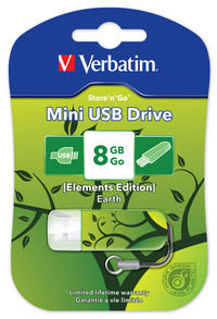 Jednotka USB Mini Elements Edition, 8�GB � motiv země