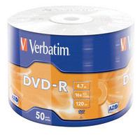 DVD-R mat s�lv, pakke med 50 stk. wrap-spindel