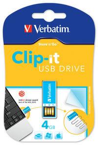 USB-Laufwerk Clip-it 4 GB, Blau