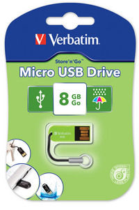 Micro USB-Laufwerk 8�GB � Eukalyptus Green