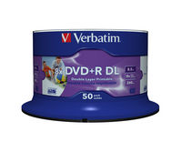 DVD+R Double Layer Wide Inkjet Printable 8x