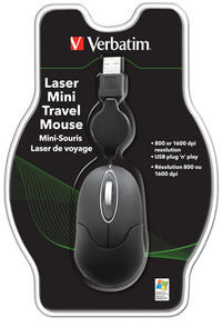 Laser Mini Travel Mouse