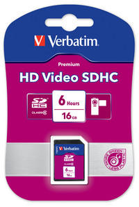 HD Video SDHC 16GB 6 Hours