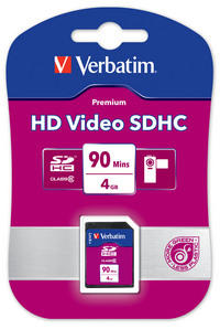 HD Video SDHC 90 min 4 GB