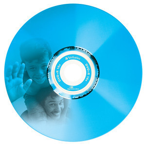 43658 DVD+R LightScribe Colour Global Disc Surface Blue printed