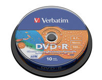 DVD-R 16x Wide Printable Water Resistant No ID Brand