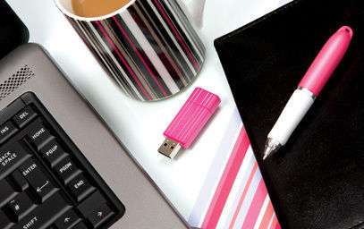 USB PinStripeColours Pink