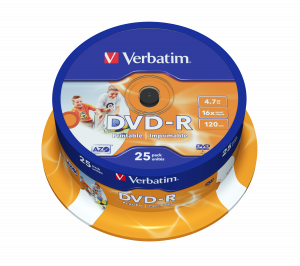 DVD-R Wide Inkjet Printable ID Brand