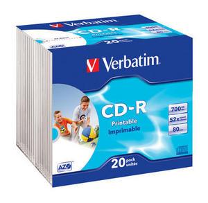 CD-R AZO Wide Inkjet Printable