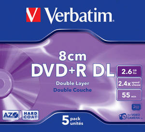 DVD+R 8cm Double Layer Hardcoat