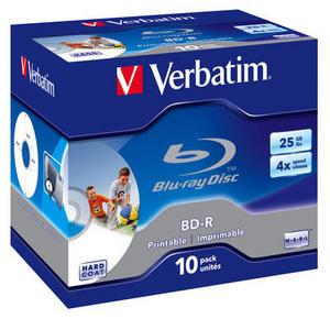 BD-R SL 25GB 4x Printable 10 Pack Jewel Case