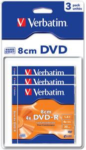 DVD-R 8cm Matt Silver Hardcoated
