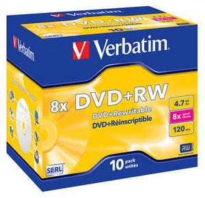 DVD+RW Matt Silver 8x