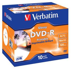 DVD-R Glossy Wide Inkjet Printable No ID Brand