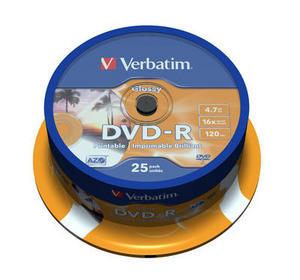 DVD-R Glossy Inkjet Printable No ID Brand